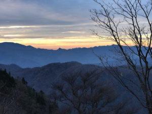 大台ケ原の夕陽